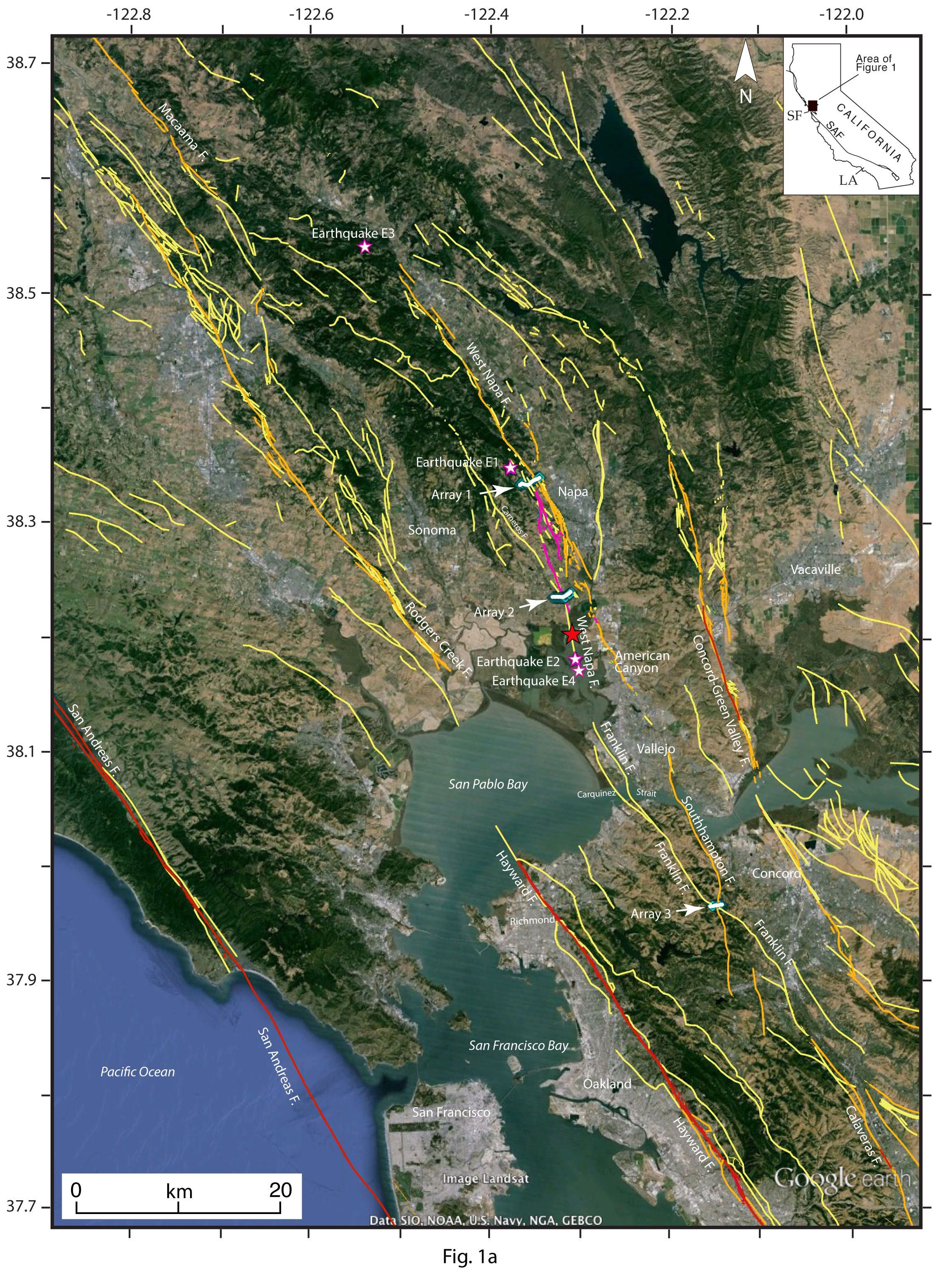 Linking Faults in Napa Valley and Beyond