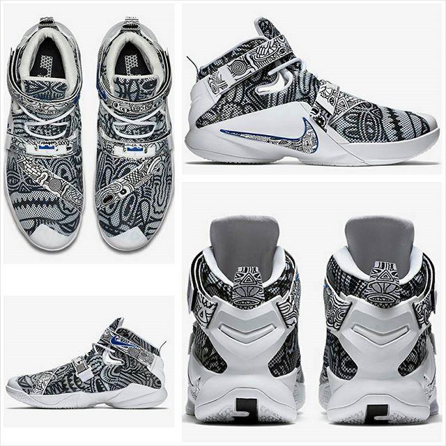 reputable site ae3e4 b16ba Nike Zoom LeBron Soldier 9 EP Freegums - Black WHITE-Concord