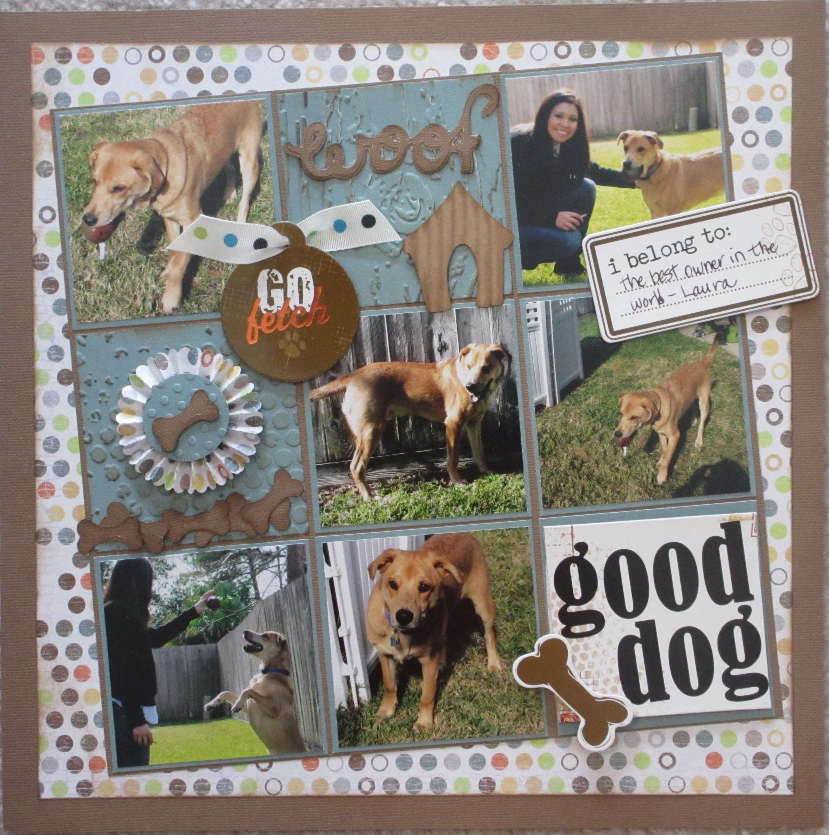 Scrapbook ideas for dogs - Dog Scrapbook Page Layouts