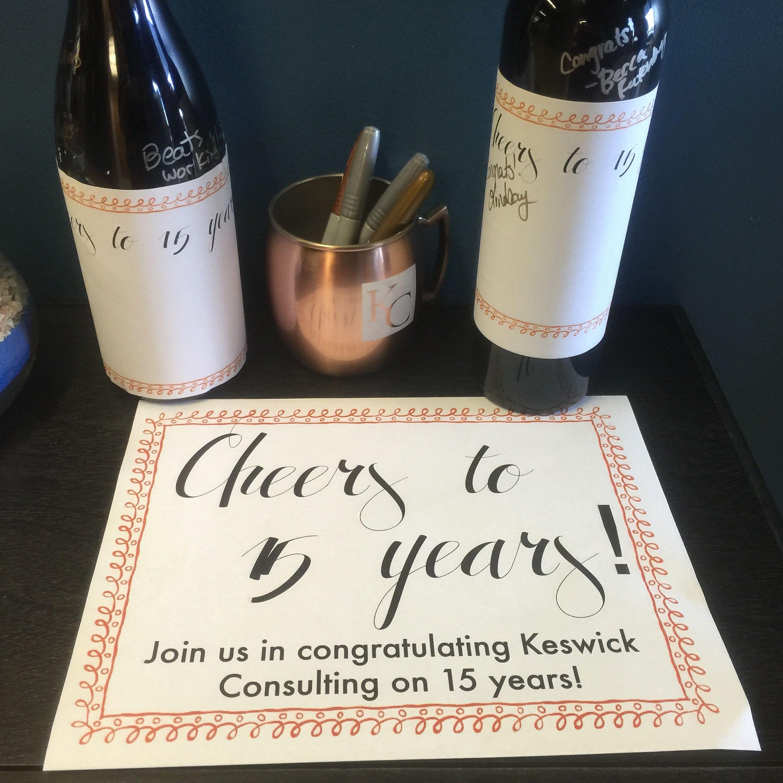 Celebrating keswick consultings 15th anniversary june