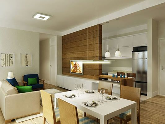 Lumin rias para o balc o e painel para tv d para o apto for Fachadas de apartamentos pequenos