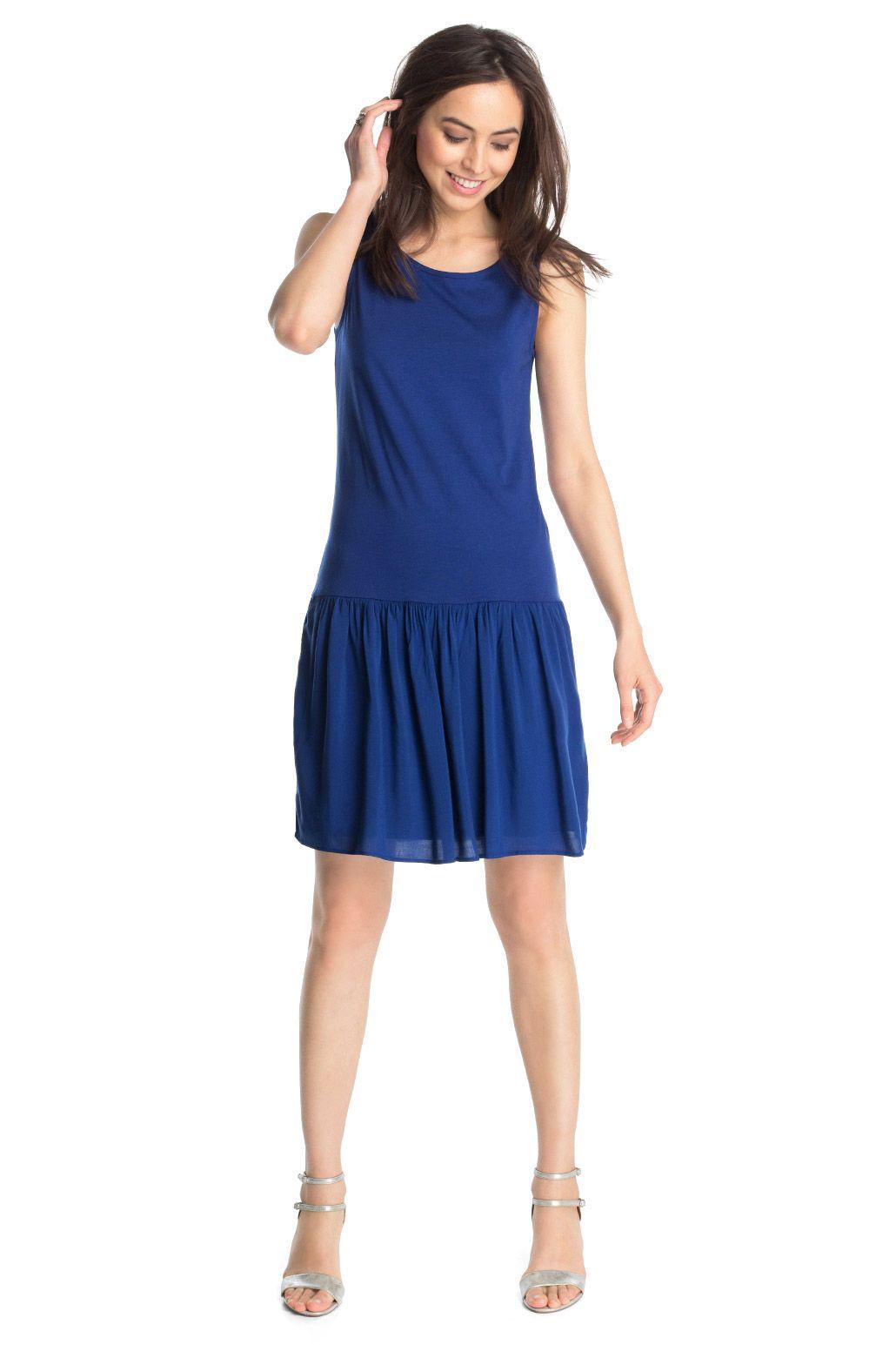 Esprit - Kleid aus luftigem Material-Mix im Online Shop ...
