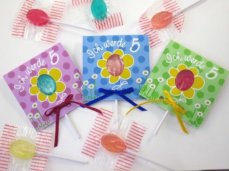 kindergeburtstag 3 lolli-einladungen blümchen | chang'e 3 and products, Einladungsentwurf