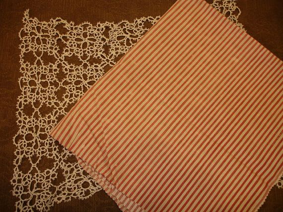 Vintage French Ticking Upholstery Fabric Soft By Wondersofthepast