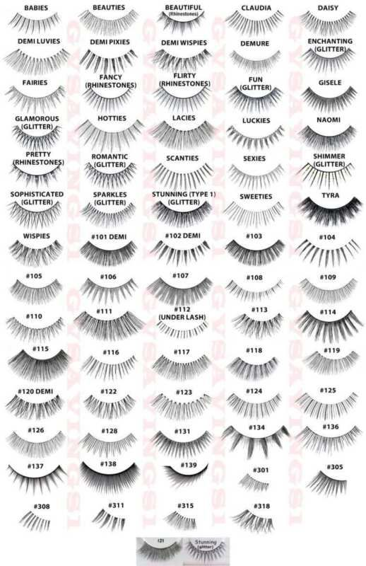6e2cf8e0929 PICK ANY!) 4 Pairs ARDELL FALSE EYELASHES Fake Lashes Invisibands ...