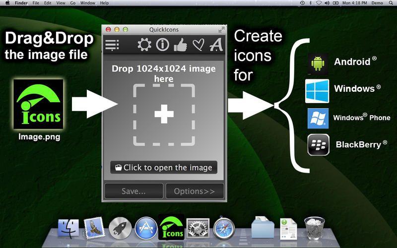 Quick Icons lite Graphics & Design 844425417 Mac App