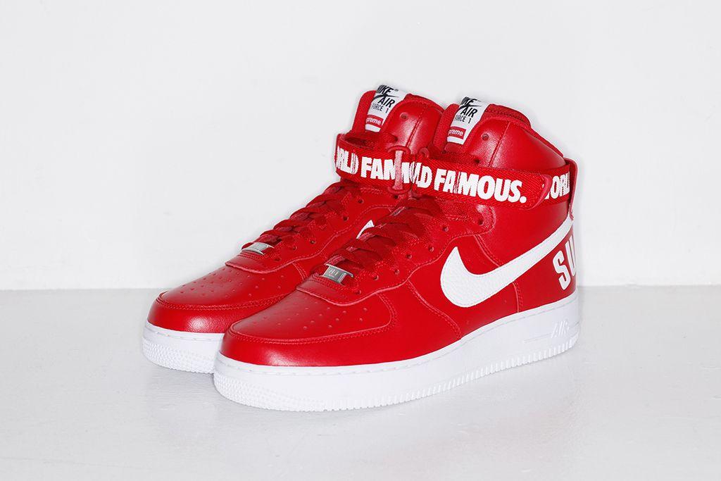 de vanzare selecție premium calitate bună Supreme x Nike 2014 Fall/Winter Air Force 1 High Collection | Nike air  force, Nike air, Sneakers