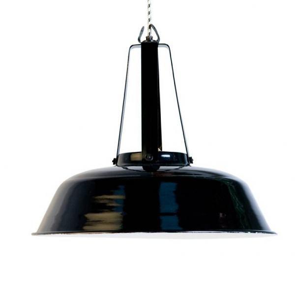 HK-living industrielle pendentif noir
