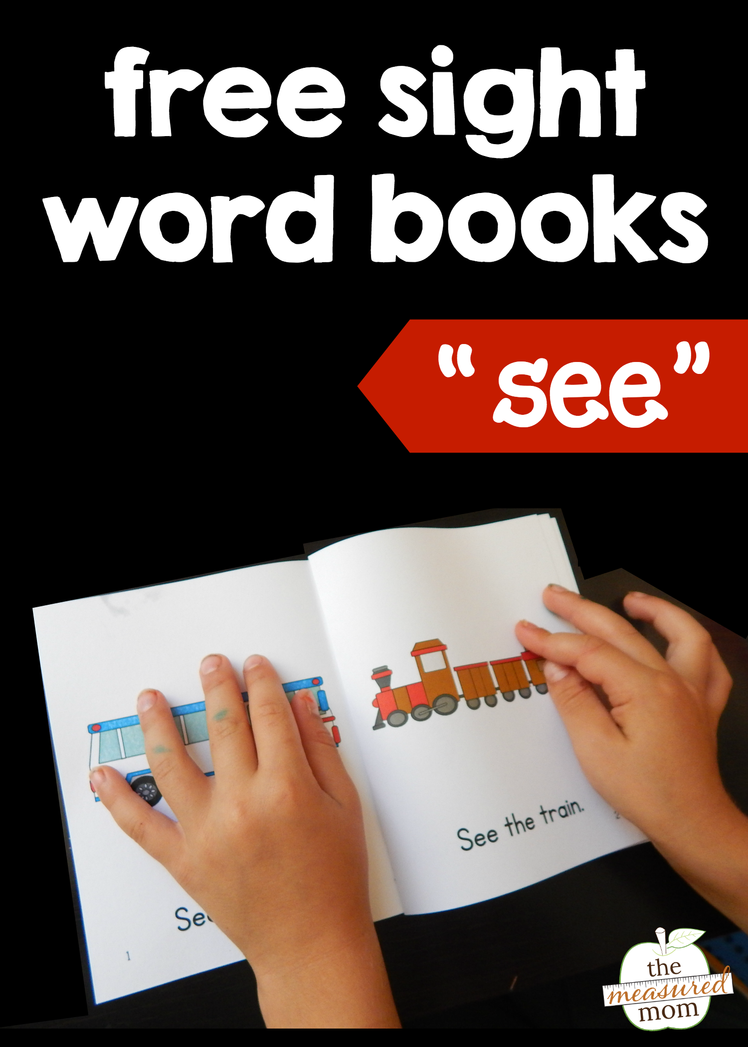 Teach The Sight Word See With Four Free Books