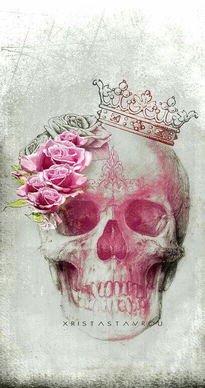 14++ Tete de mort avec rose trends