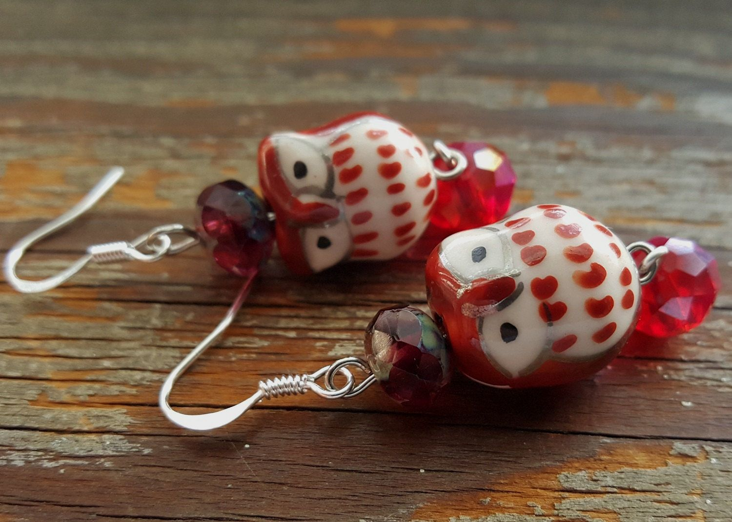 Adorable Owl Earrings That Will Spin Your Head Around! Bridesmaid gift, Mother's Day, Valentines Day, Anniversary, Birthday, girlfriend gift by IpanemaGirlShop on Etsy