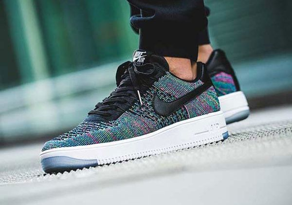 reputable site 15544 ae7f7 Basket Nike Air Force 1 Ultra Flyknit Low Multicolor Blue Lagoon pas cher  (1)
