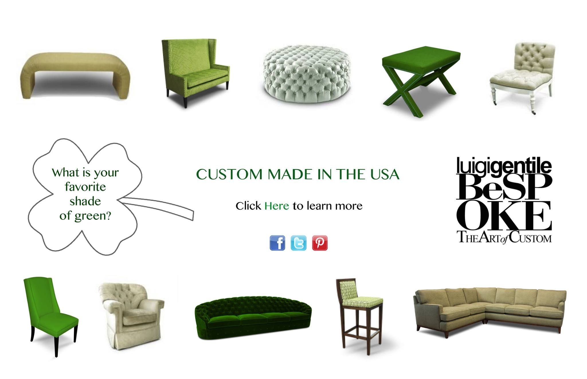 Delicieux Furniture Nyc · What Is Your Favorite Shade Of #GREEN? #stpatricksday  #bespokebyluigigentile #custommade #