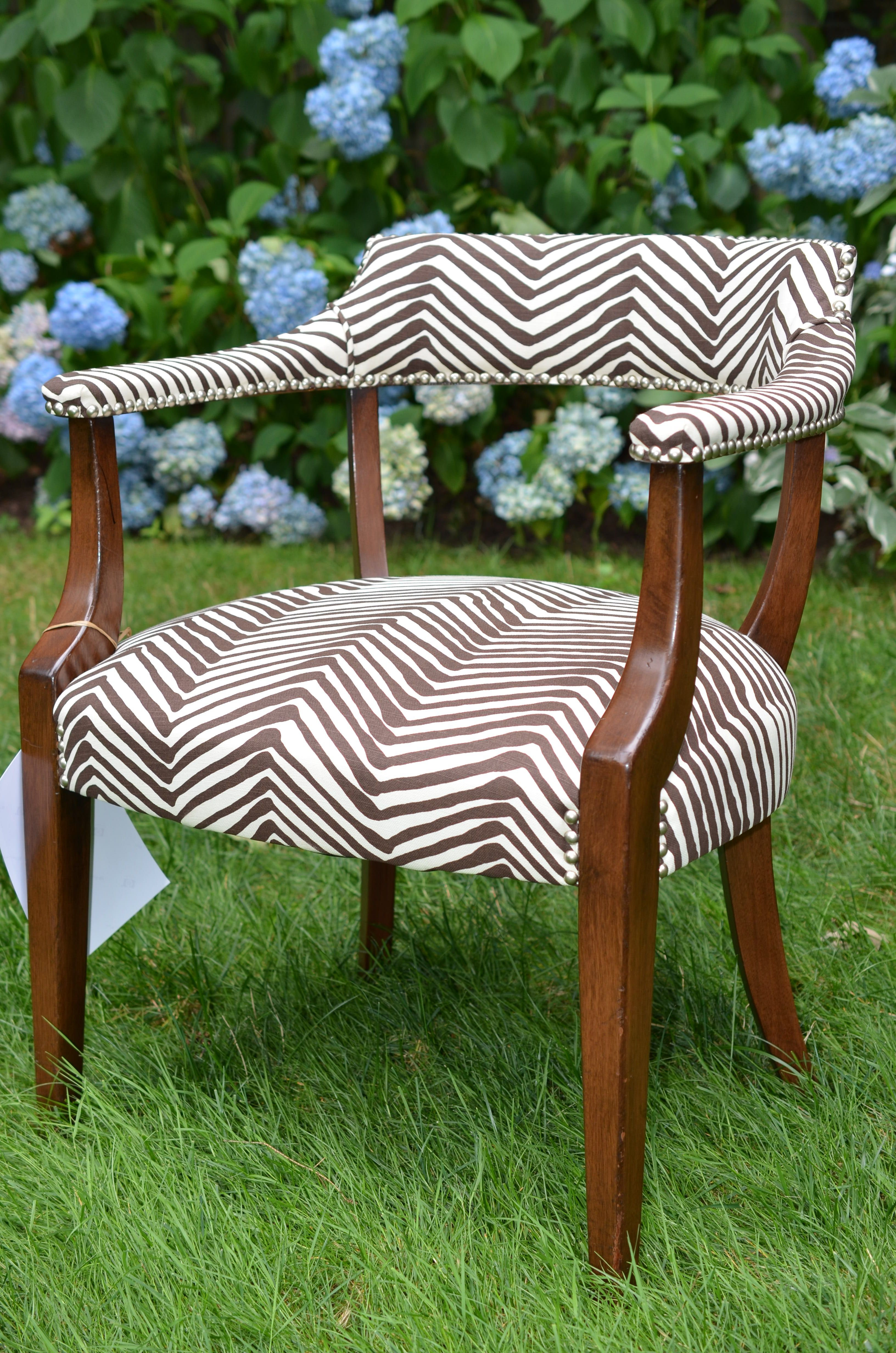 1950 S Hickory Chair Co Library Chair Upholstered In Zig Zag By