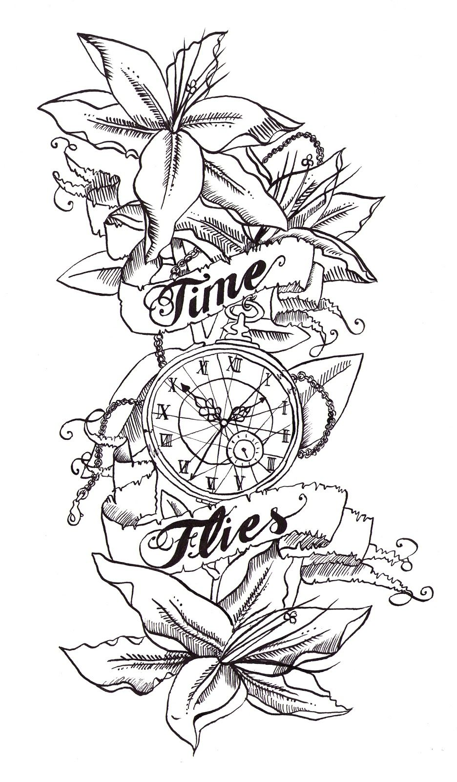 Tattoo designs coloring book - Time Related Tattoo Designs I Am By No Means A Tattoo