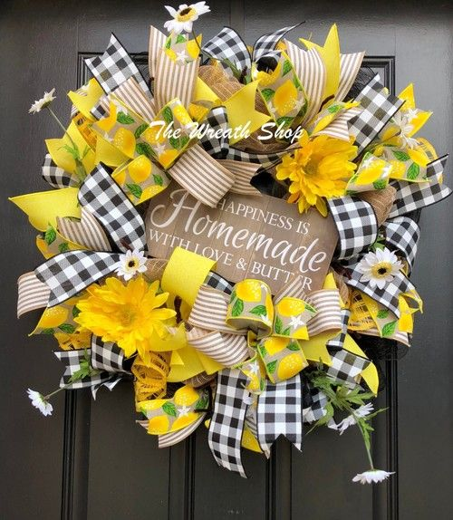 Photo of Happiness is Homemade with Love and Butter Wreath