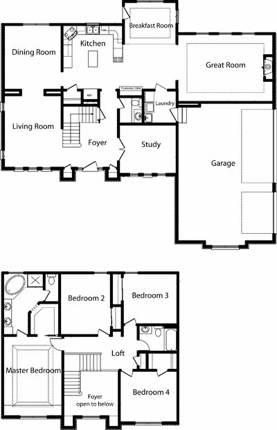 Two Story Home Floor Plans House Layout Plans Two Story House