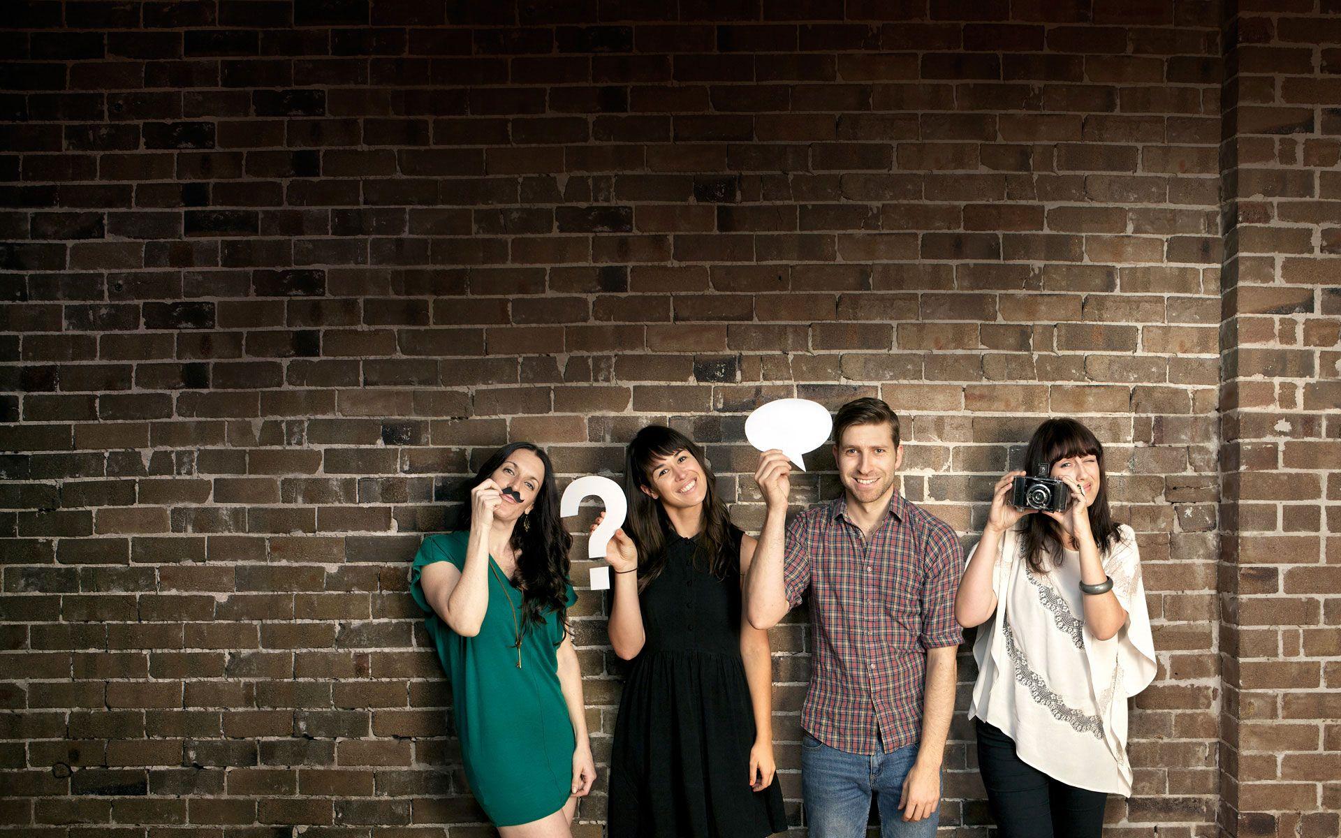meet the team creative photoshoot