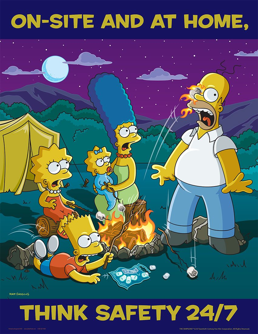 OnSite And At Home Think Safety 24/7 Simpsons Safety