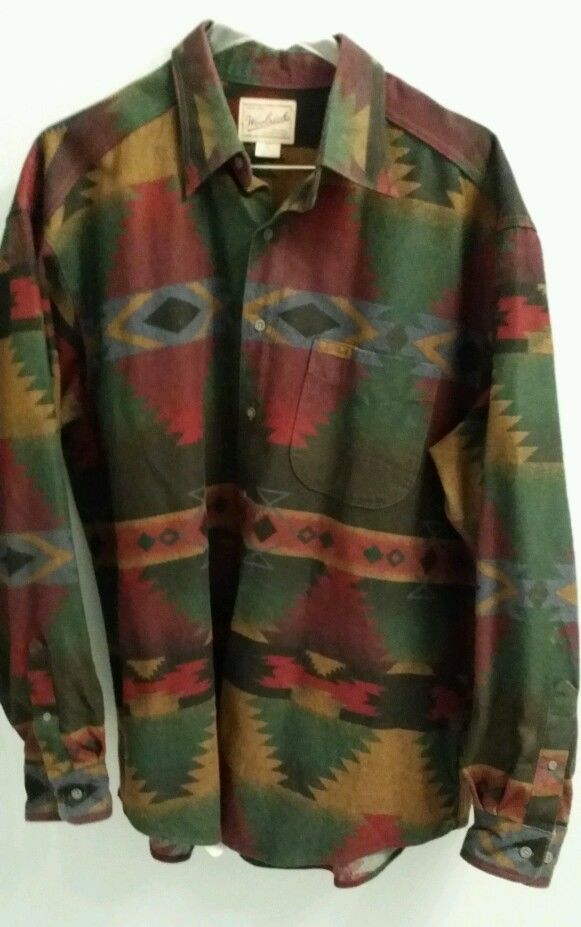 139c7807dec Woolrich Indian Blanket Print heavy cotton