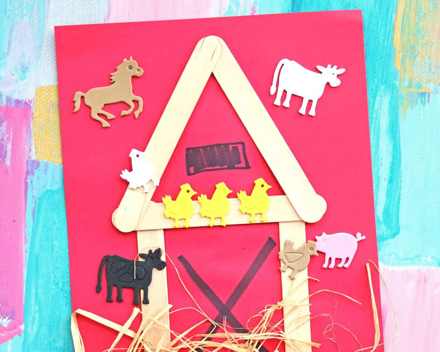 Mixed Media Popsicle Stick Barn