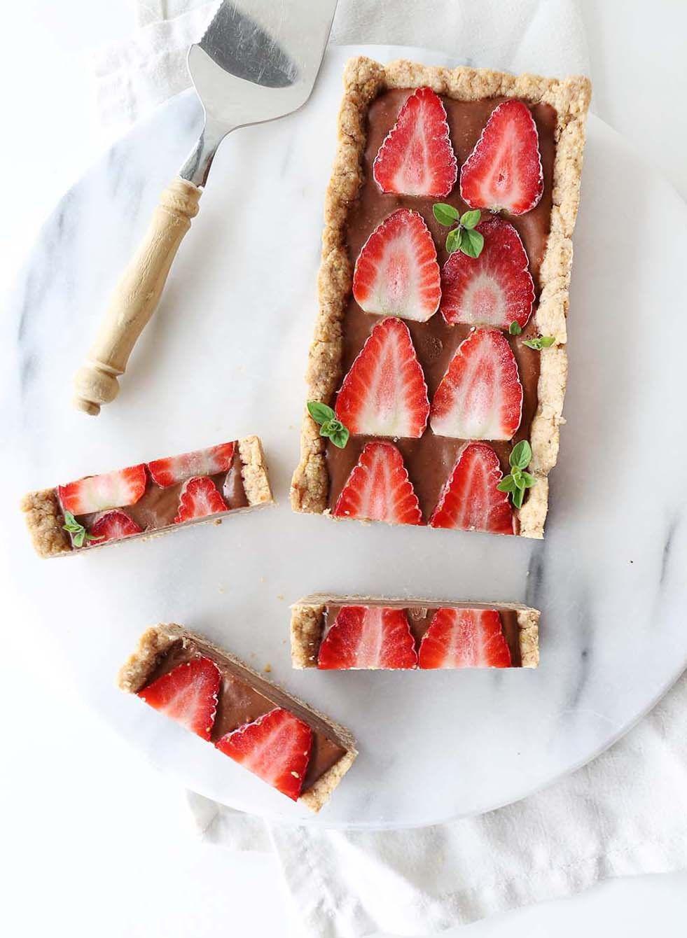 Vegan Glutenfree Double Chocolate Mousse Tart Recipe Healthy