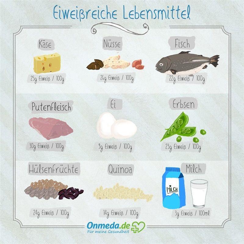 Eiweiß (Protein) Eiweißreiche Lebensmittel - Onmeda.de