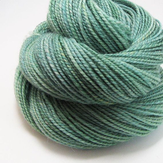 Handspun Yarn  Thyme  150 Yards by valentinearts on Etsy, $29.00
