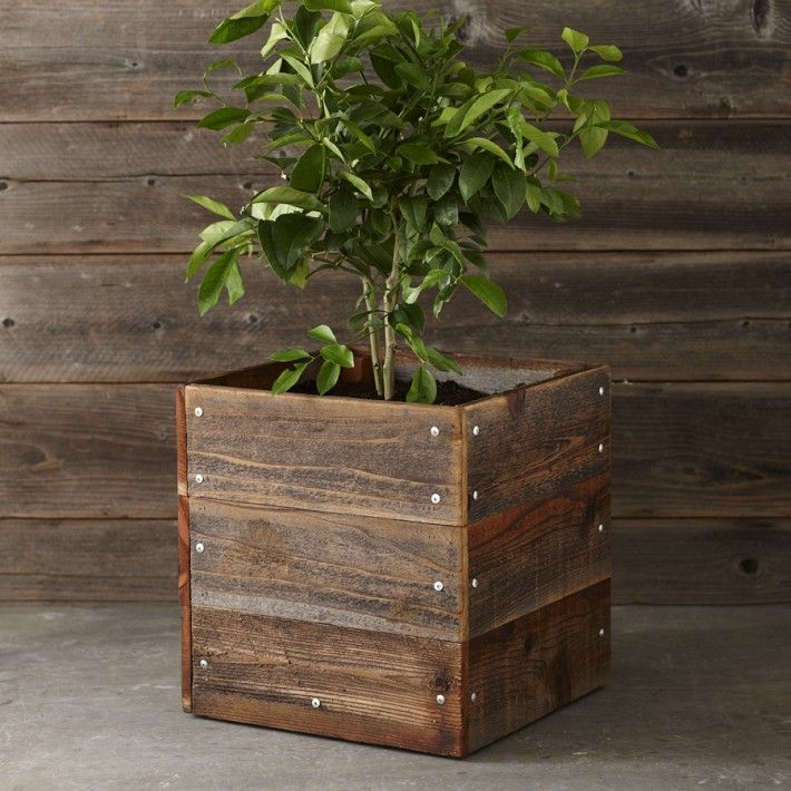 Reclaimed Planter Boxes By Custom By Rushton Rustic Planters Garden In The Woods Wood Planters