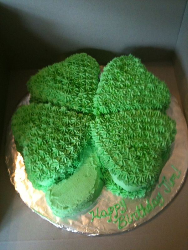 Miraculous Shamrock Cake With Images Holiday Dessert Recipes Cake Cake Birthday Cards Printable Trancafe Filternl
