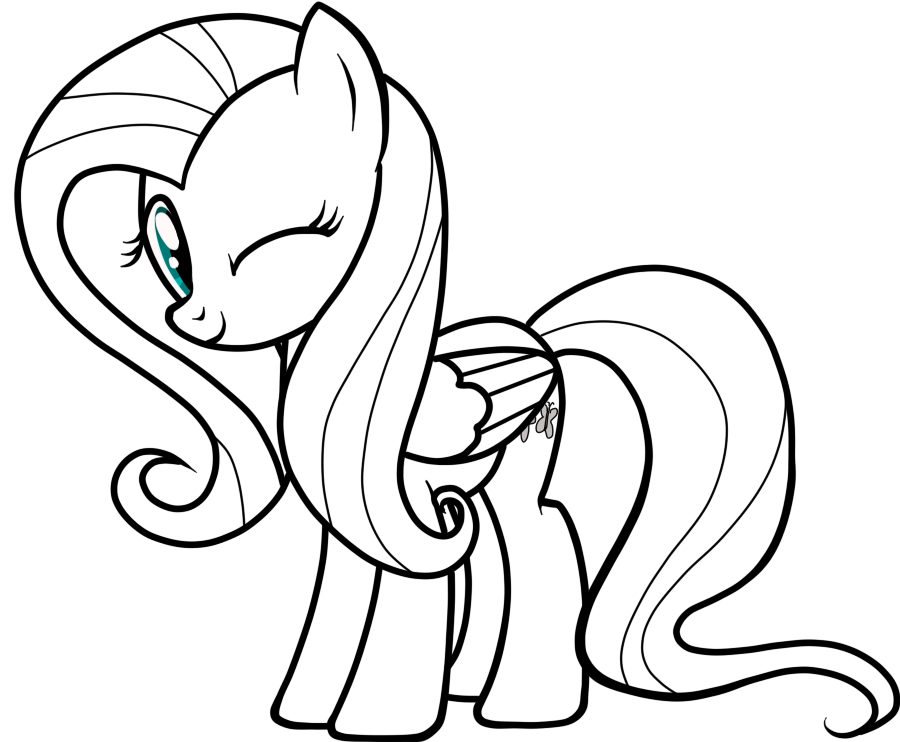 Fluttershy line-art by fluttershy7 | ideas d Sebas | Pinterest | My ...