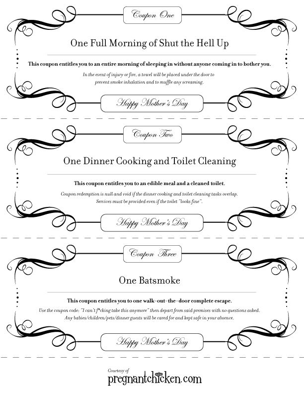 Motheru0027s Day Coupons Coupons And Craft   Coupon Sheet Template  Coupon Sheet Template
