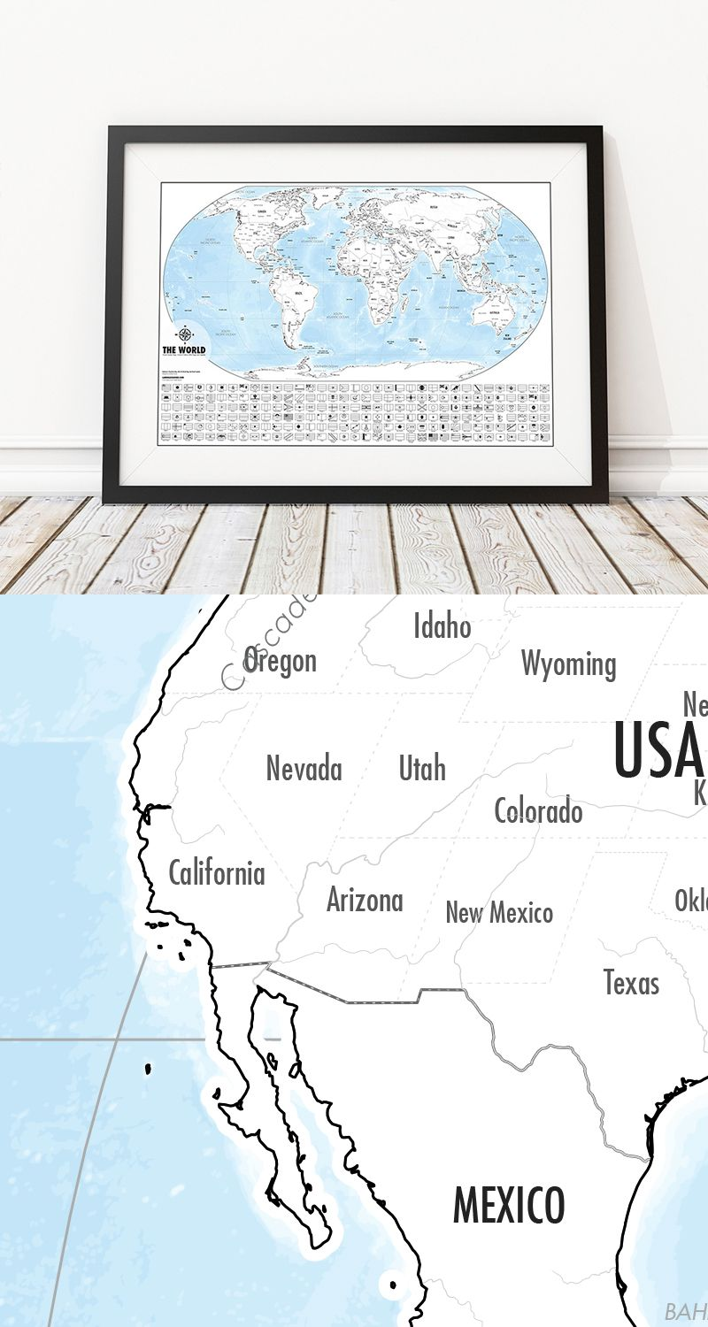Color Your Own World Map.Pin By Jessica Ramirez On Gifts Pinterest World Map Outline Map