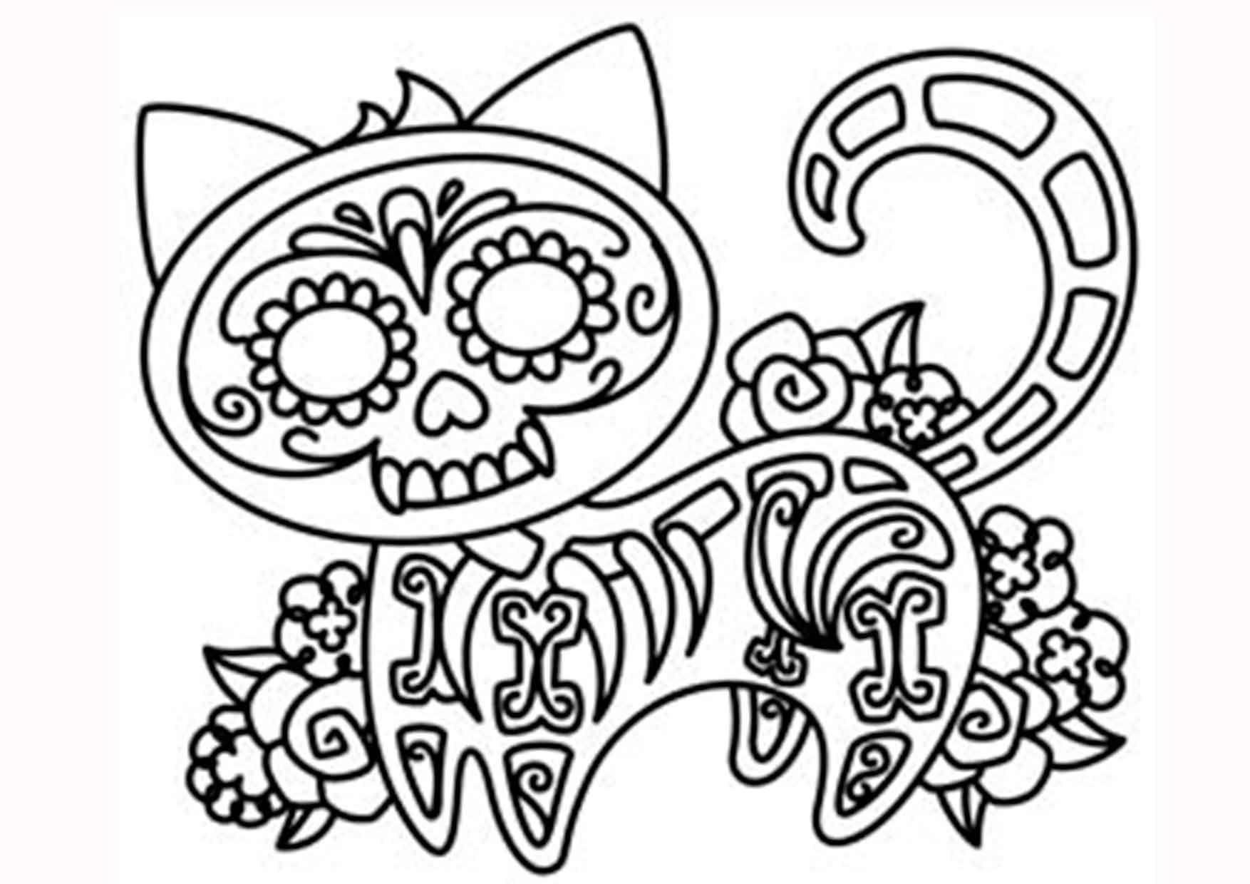 20 padrísimos mandalas de día de muertos para imprimir y colorear ...