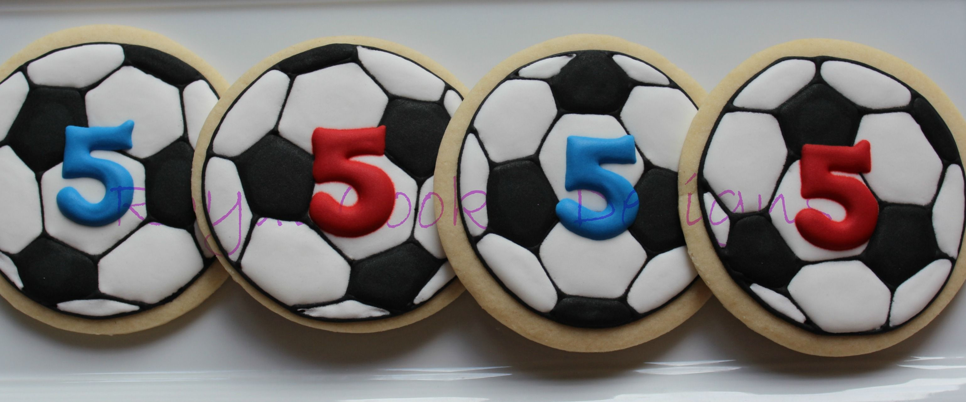 Birthday favors of soccer balls for twin 5 year old boys