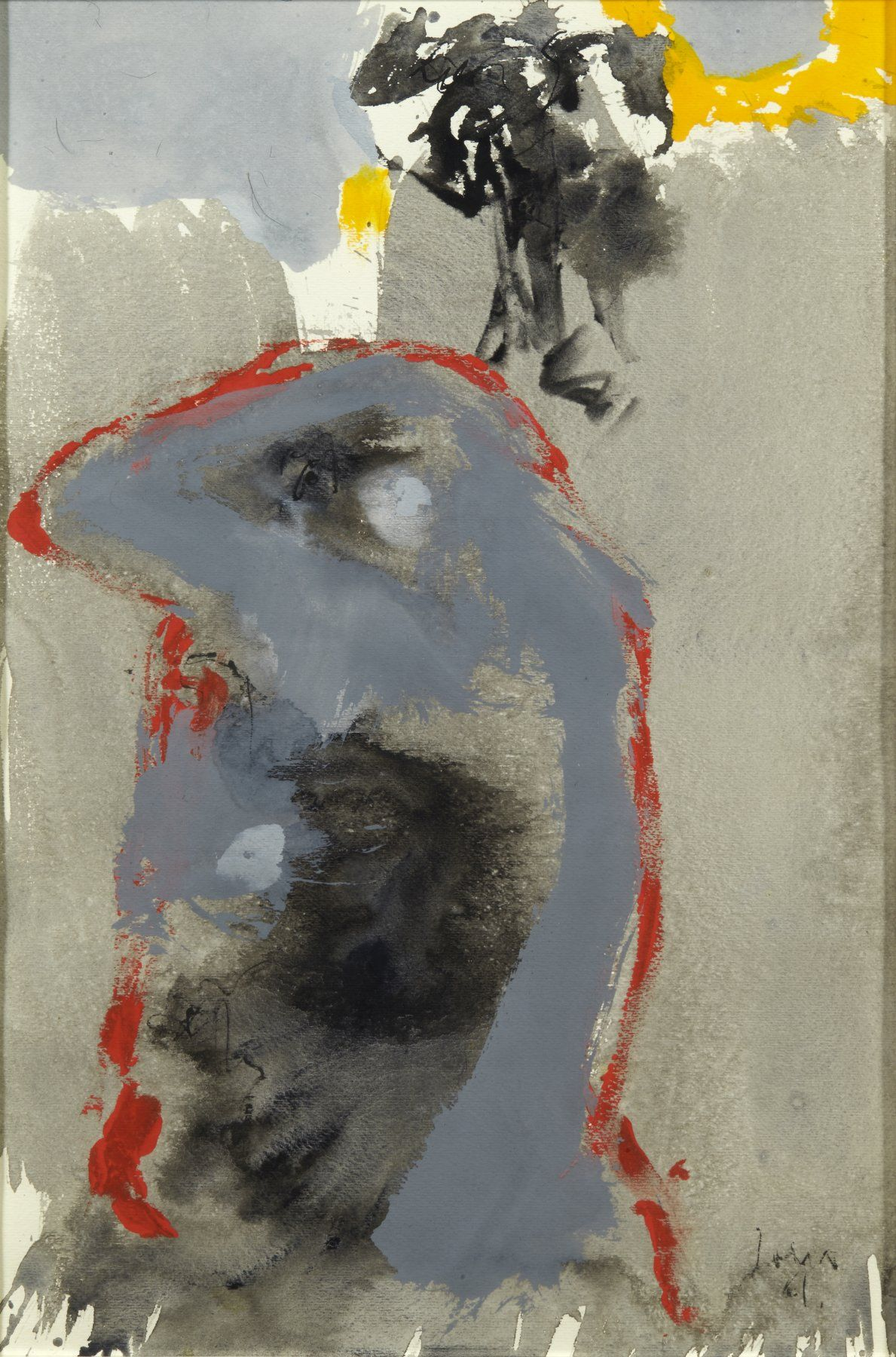 Watercolor art history brush - Paintings Asger Jorn Untitled 1961 Watercolour And Gouache On Paper