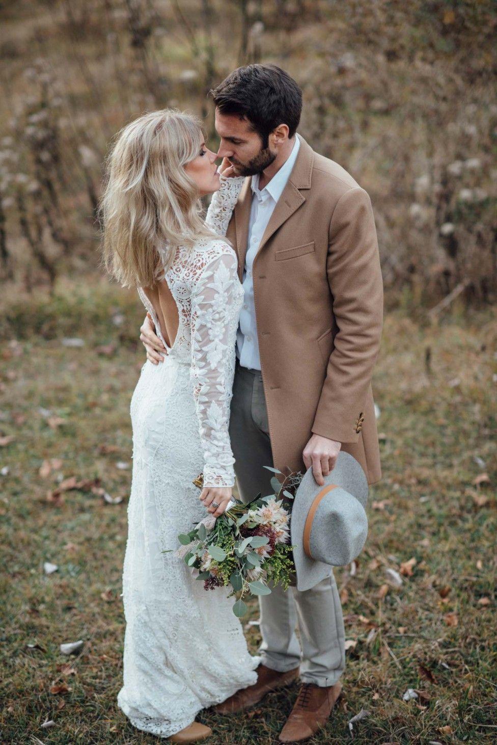 Eine Indian Summer-Braut in den Alpen | Brautkleid, Ideen für ...
