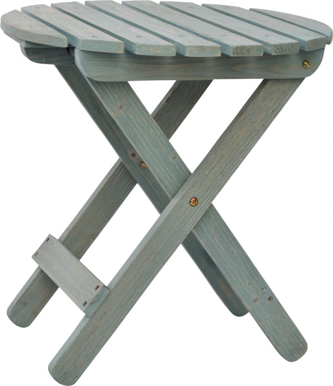 Shine Co Outdoor Round Adirondack Folding Side Table In Dutch Blue