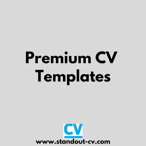 Pin On Premium Cv Templates