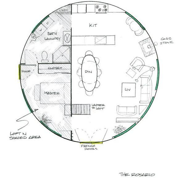 2 Story Yurt Floor Plans Round House