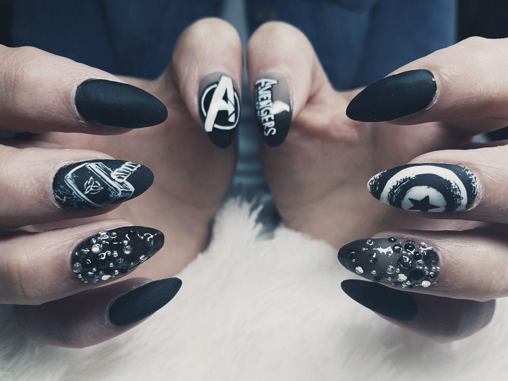 Avengers Nail Art Gelove Nehty Nehty