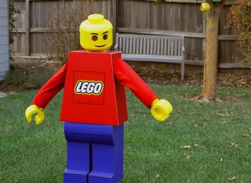 LEGO MAN COSTUME & LEGO MAN COSTUME | HALLOWEEN | Pinterest | Lego man costumes and ...