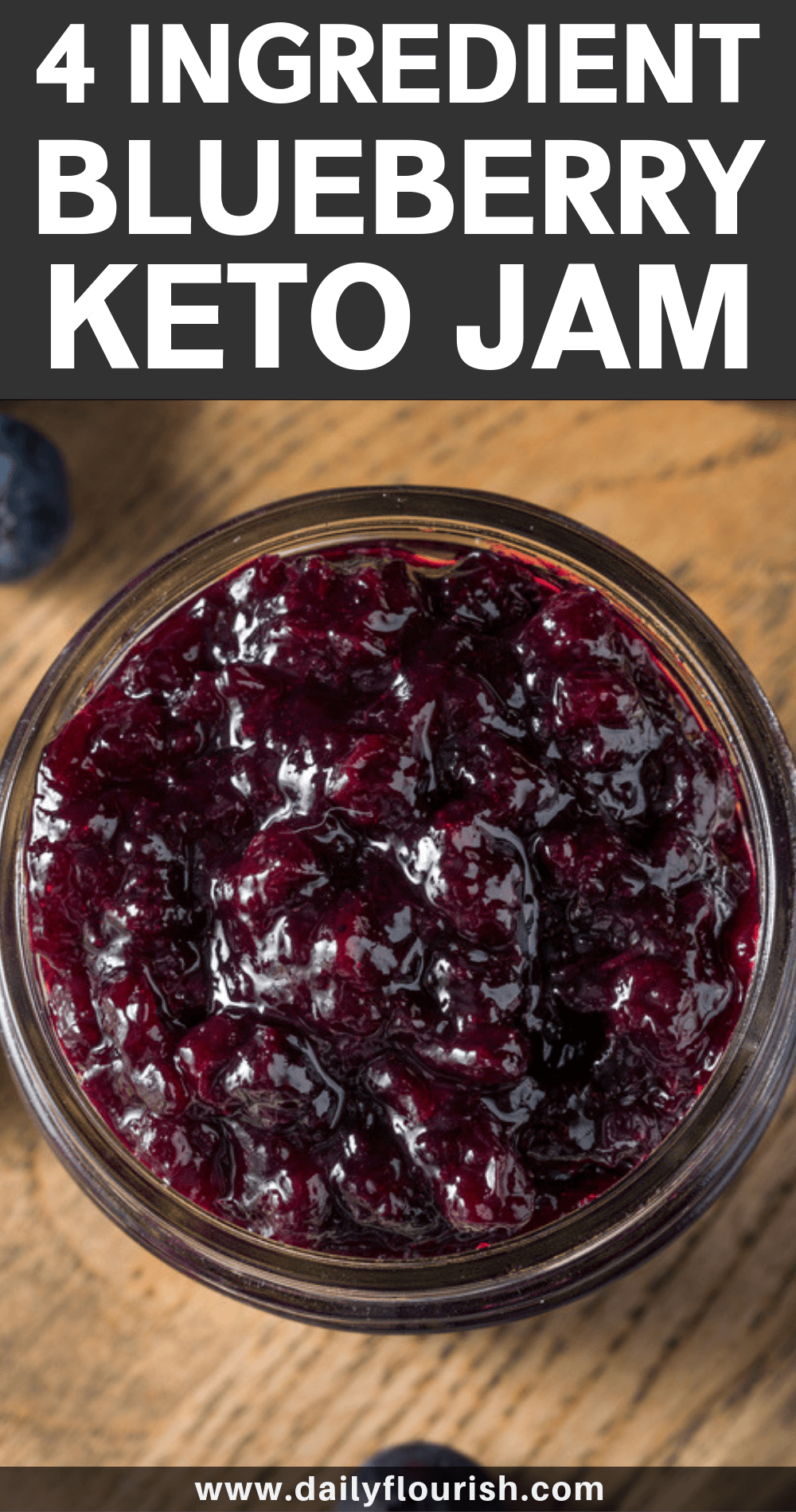 4-Ingredient Sugar-Free Blueberry Jam (Keto & Low Carb