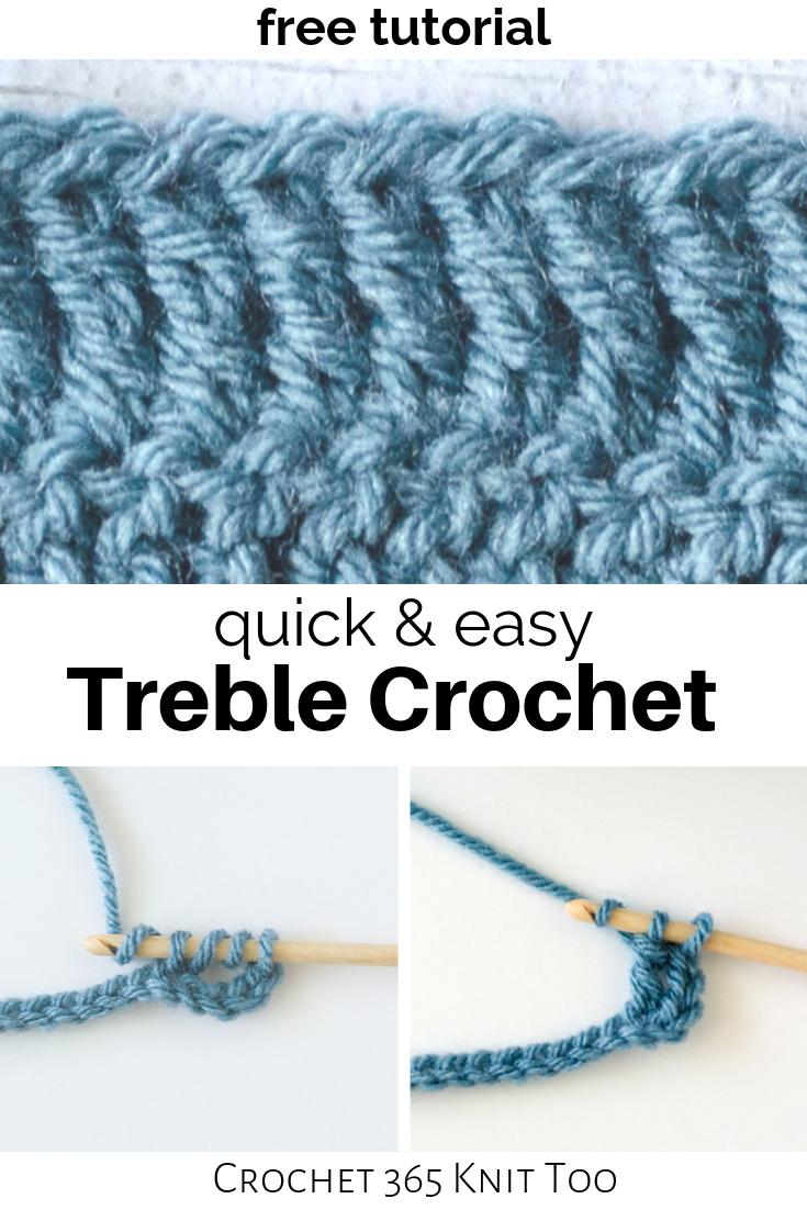 How To Treble Crochet How To Treble Crochet Triple Crochet Stitch Crochet