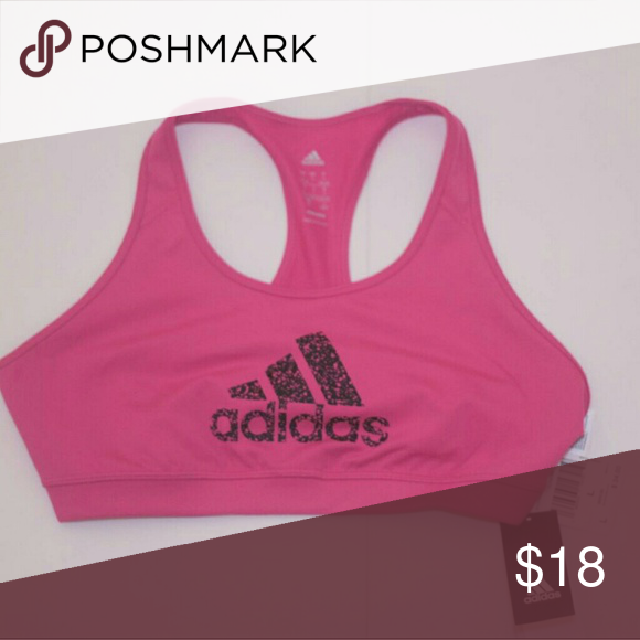 4f6d1c3e909bf Adidas Sports Bra Adidas Hot Pink   Black Climate Sports Bra. Black  Graphic