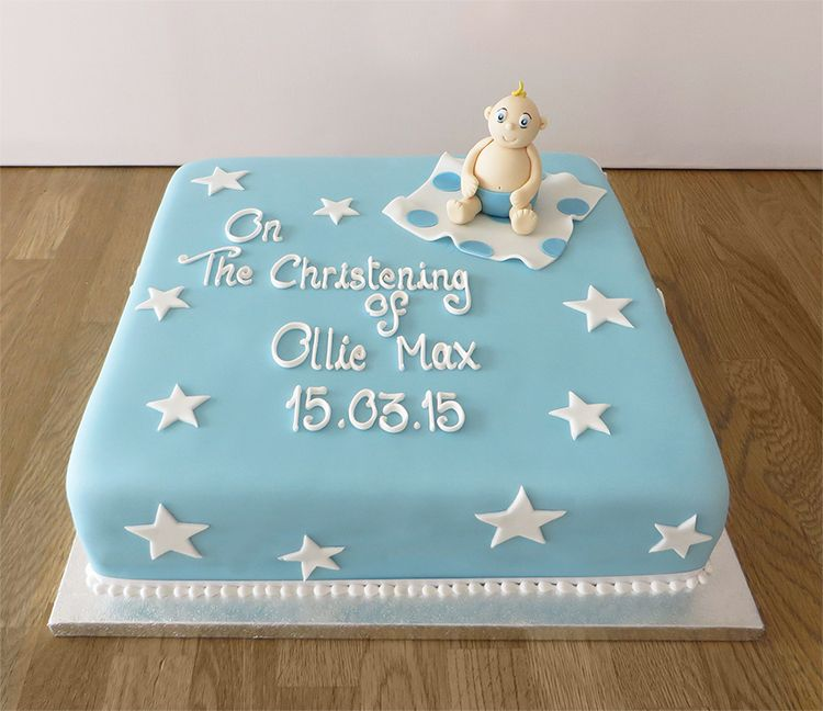 Baby Boy Christening Cake Jpg 750 648 Pixels