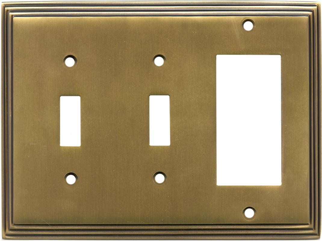 Antique Brass Wall Plates Extraordinary Art Deco Satin Antique Brass Switch Plates Outlet Covers Decorating Inspiration