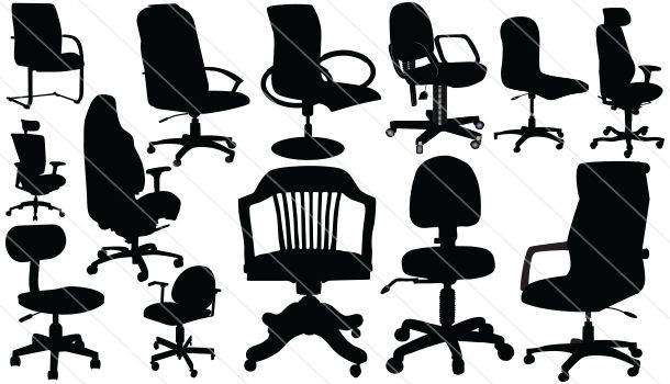 Office Silhouette Vector Download 13 Chair Silhouette Silhouette Vector Clip Art Silhouette Clip Art