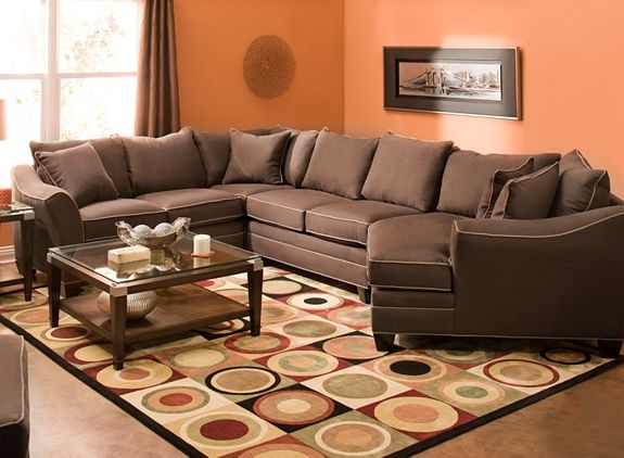 Foresthill 4 Pc Microfiber Sectional Sofa Bat