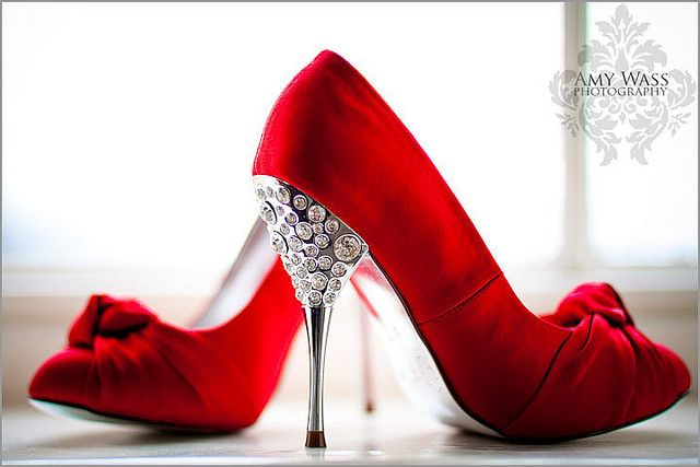 Red Wedding Shoes With Diamonte Heels Red Wedding Shoes Red Bridal Shoes Indian Wedding Shoes